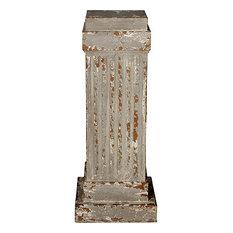 "Wooden Display Pedestal Planter Stand 42""H Gray"