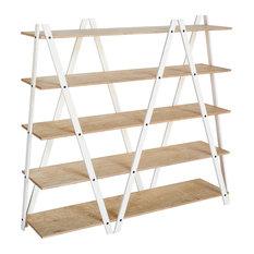 ZIG-ZAG Shelf, White and Oak