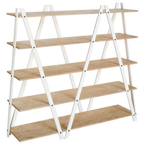 ZIG-ZAG Shelf, White and Oak