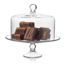 Libbey, Inc - Selene Cake Dome 2 Piece Set - Dessert and Cake Stands