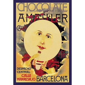 """Chocolate Amatlle"" Artwork, 20""x30"", Paper Poster"