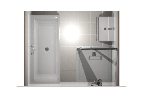 For The Shower From Peoples Experience Could There Be A Large Amount Of Splash Over Floor Or Bath I Have Included And Image Which Hopefully Helps