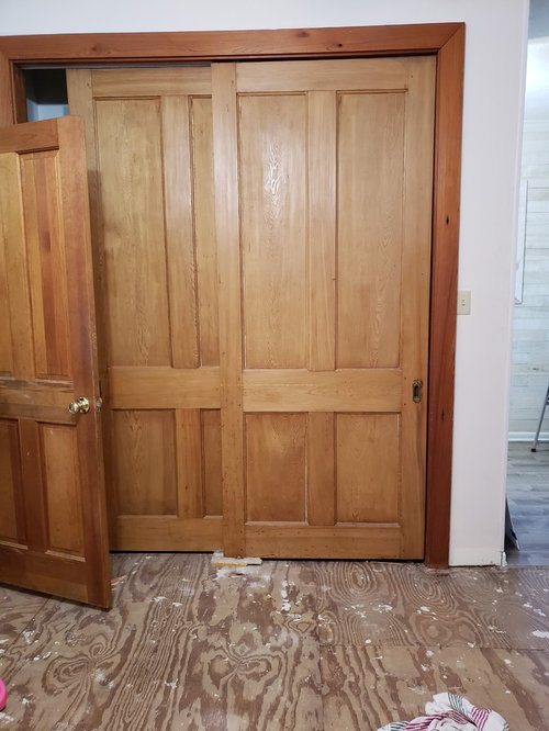 ... doors or antique trim but am unsure what baseboards would look good  with them. Does anyone have any ideas? I don't have a lot of time to  decide, ... - Opinions Needed! Antique Doors And Wood Trim, What Baseboards To Use?
