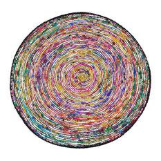 Souillac Rug, Light Multicoloured, 70x70 cm
