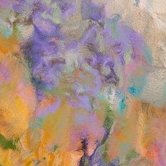 """Garden Impressionism A"" Artwork, White Frame, Medium, 24""x24"""