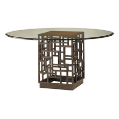 Tommy Bahama Home Ocean Club South Sea Dining Table With 60-inch Glass Top