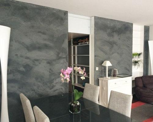 R novation salle de bain et b ton mural for Pose beton cire mural