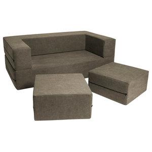 Fine Jaxx Distressed Cotton Convertible Sleeper Loveseat And Creativecarmelina Interior Chair Design Creativecarmelinacom