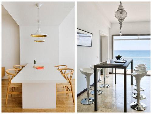 Encuesta: Mesa de comedor ¿baja con sillas o alta con taburetes?