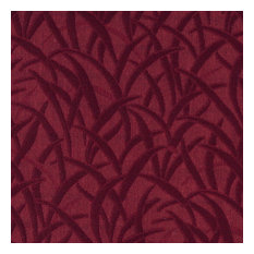 Burgundy Blades Of Grass Woven Matelasse Upholstery Grade Fabric By The Yard