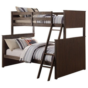 Allentown Twin Over Twin Bunk Bed With Storage Ladder And Trundle White Transitional Bunk Beds By Kolibri Decor Houzz