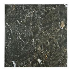 "SomerTile 17.75""x17.75"" Donna Ceramic Floor/Wall Tile, Case of 7, Nero"