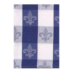100 Cotton Blue And White 18 X28 Dish Towel Set Of 6