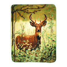 Shavel Home Products - Standing Deer High-Pile Oversized Throw - Throws