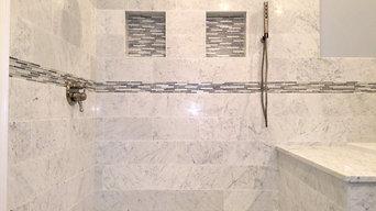 Marble tile bath with MTI Designer Air Bath