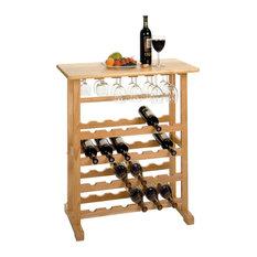 Winsome Basics 24-Bottle Wine Rack in Beech