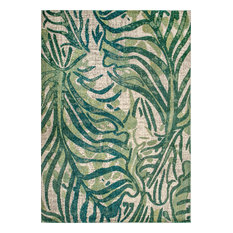 nuLOOM Joi Contemporary Country and Floral Area Rug, Green, 9'x12'