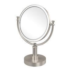 "8"" Vanity Top Make-Up Mirror 3X Magnification, Satin Nickel"