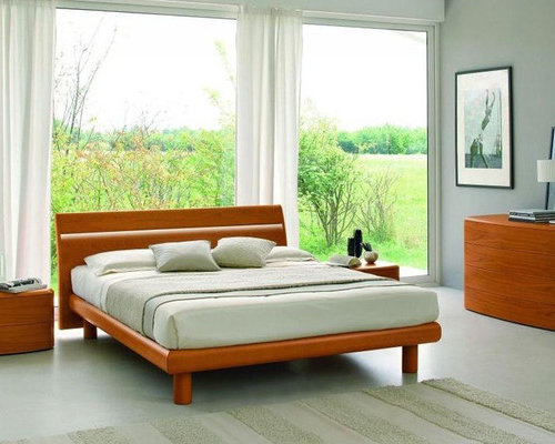 modern wood bedroom furniture. Made In Italy Wood Platform Bedroom Sets Feat. Light - Furniture Modern T