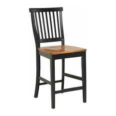 Counter Stool in Black and Oak