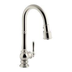 Kohler Artifacts Single-Hole Kitchen Sink Faucet, Pull-Down Spout, Vibrant Polis