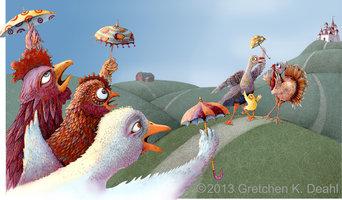 """Nursery Art: """"Chicken Little"""" Art Print"""