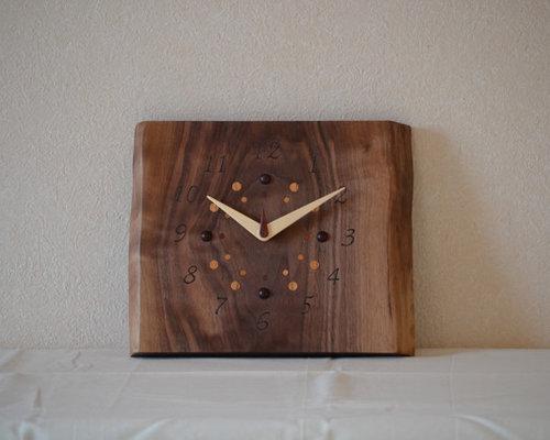 一枚板時計(ウォールナット) - 時計
