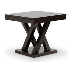 Baxton Studio   Baxton Studio Everdon Dark Brown Modern End Table   Side  Tables And End