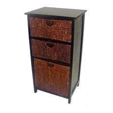 America Basket 3 Compact Storage Shelf In Black Finish Dressers