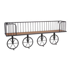 Industrial Cage Shelf With 4 Wheel Hooks