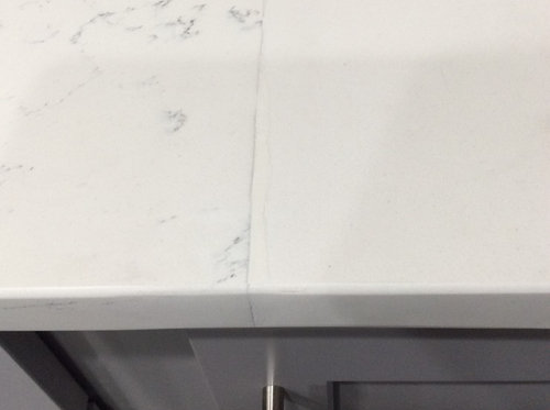 Is This An Acceptable Seam On Quartz Countertop