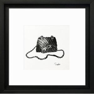 """Designer Bags """"Chanel"""" Framed Art Print, 31 x 31 cm"""