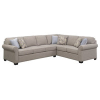 Pemberly Row Camilla Brownstone Sleeper Sectional