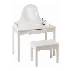 Little Colorado Vanity And Bench Set White Kids Bedroom Vanities