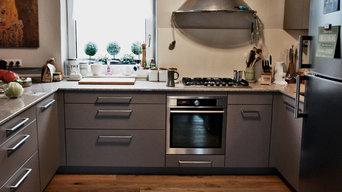Küchengestaltung Einfamilienhaus mit Fenstereinbau