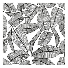 Serengeti Tropical Leaves Wallpaper