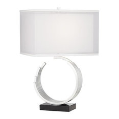 Riley 1 Light Table Lamp in Silver Leaf