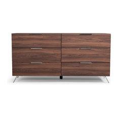 Nova Domus Brooklyn Italian Modern Walnut Dresser
