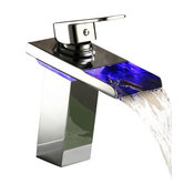 Led Color Changing Vessel Sink Waterfall Faucet