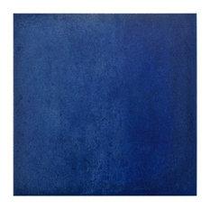 "14.13""x14.13"" Symbol Porcelain Floor/Wall Tiles, Set of 8, Blue"