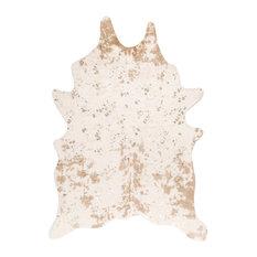 "nuLOOM Animal Print Macchiato Faux Cowhide Area Rug, Off-White, 3'10""x5'"