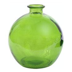 Couronne Co. 66 oz Ball Glass Vase, Lime