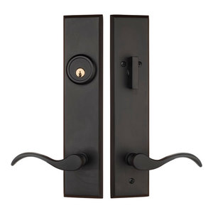 Dark Oil Rubbed Bronze Front Door Handleset For Entrance Entry LH Lever Keyed