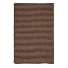 Colonial Mills, Inc - Braided Simply Home Solid, 10', Area Rug, Cashew, Square 10' - Outdoor Rugs