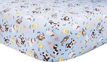 Barnyard Farm Animal Baby Crib Sheet