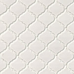 "Tilesbay - 10""x11"" White Glossy Arabesque Mosaic, Set of 10 - White Glossy Arabesque porcelain tiles are at once classic, and elegant. Suitable for countertops, and as backsplash tile and floor tile, this white tile coordinates beautifully with a wide array of natural stone slabs and other tiles in tilesbay inventory. Select grout color carefully; a contrasting grout will make the pattern appear more dramatic, while a grout of the same tone will allow this beautiful tile to play a more subtle role in the room."