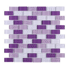 "11.75""x11.75"" Breck Mosaic Tile Sheet, Purple"