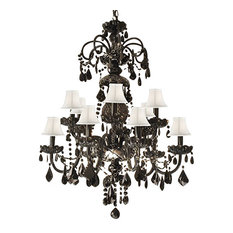 authentic all crystal chandelier jet black crystal with white shades chandeliers authentic black crystal
