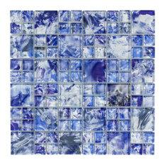 "12""x12"" Sky, Mixed Glass Tile"