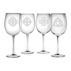 Celtics 4-Piece Wine Glass Set